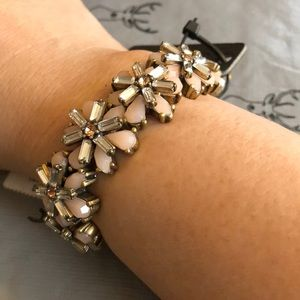 J crew gemstone elastic bracelet